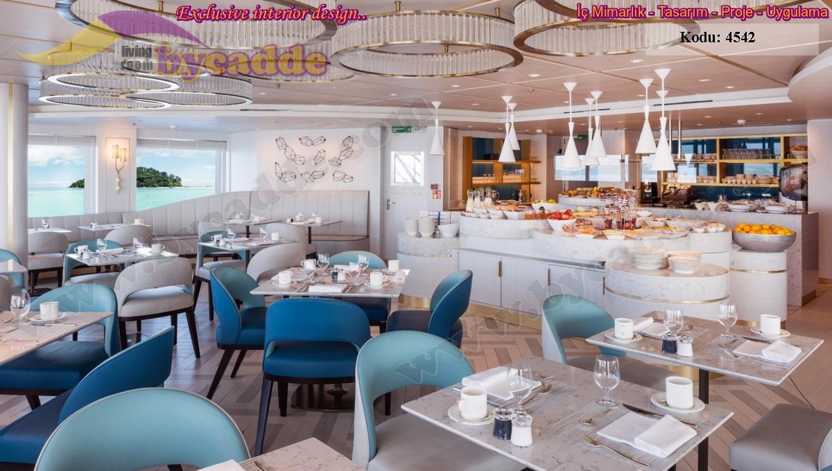 Ultra Modern Masa Sandalye Tasarımı Restoran Lokanta Dekorasyonu