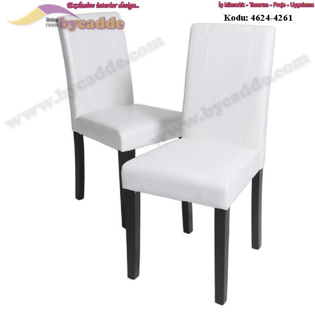 Beyaz Düz Lokanta Sandalyesi