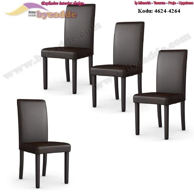 Düz Deri Lokanta Sandalyesi