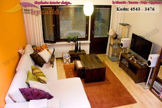 Küçük Oturma Odası Tasarımı Modern Dekorasyon