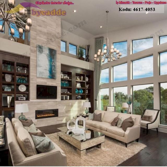 Lüks Modern Oturma Odası Tasarımı