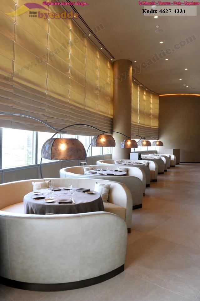 Lüks Restoran Dekorasyonu Modern Tasarım