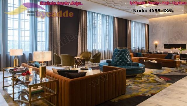 Modern Lüks Lobi Koltuk Dekorasyonu