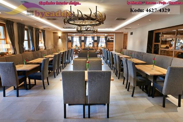 Modern Lüks Restoran Tasarımı Masa Sandalye Sedir Koltuklar