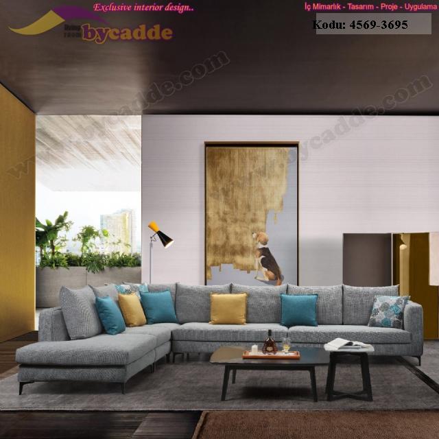 Modern Oturma Odası Salon Köşe Koltuk Takımı
