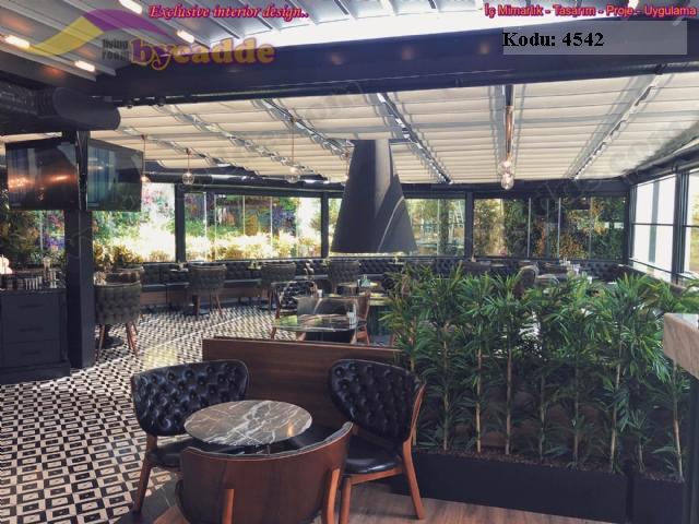 Modern Restoran Sandalye Masa Sedir Koltuk Dekorasyonu