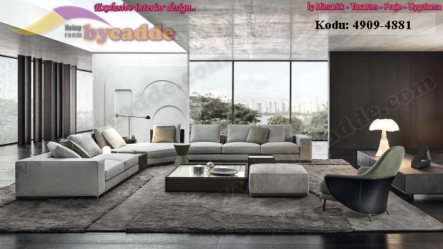 Modern Salon Köşe Takımı Geniş Lüks Dekorasyon