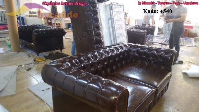 Otel Odası Chester Yataklı Kanepe Üretimi