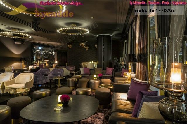 Otel Restoran Tasarımı Koltuk Masa Puf, Dubai