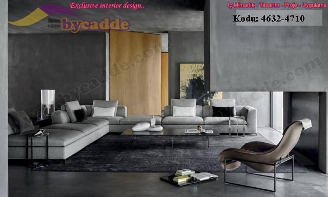 Oturma Odası Modern Modüler Köşe Koltuk Takımı
