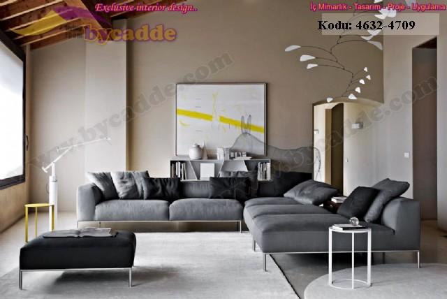 Özel Tasarım Modern L Köşe Takımı Salon Oturma Odası Dekorasyonu