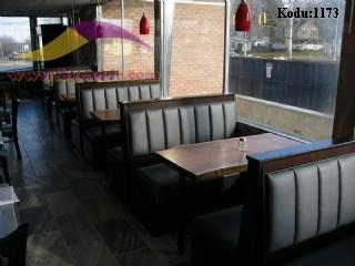 Dilimli Deri Cafe Koltuk