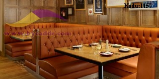 Kahverengi Chester Restoran Koltukları