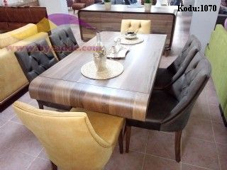 Kanuni Yemek Masası Ve 6 Adet Sandalyeler
