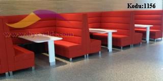 Kırmızı Restoran Koltukları