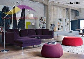Menekşe L Köşe Koltuk Takımı Modern Dekoratif Tasarım