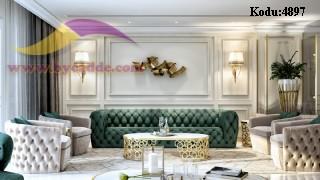 Modern Lüks Chester Koltuk Villa Yalı Koltuk Dekorasyonu