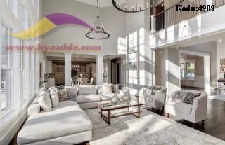 Modern Lüks Salon Tasarımı Köşe Takımı Berjer Koltuklar