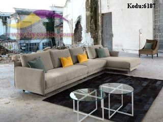 Modüler Köşe Koltuk Takımı Modern Oturma Odası
