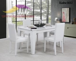 Sabit Yemek Masası Ve 6 Sandalye Hira Modeli
