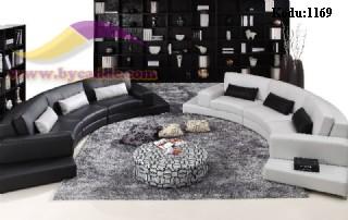 Siyah Ve Beyaz Oval Otel Koltukları
