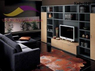 Square Kitaplıklı Tv Ünitesi Modern
