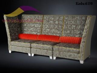 Yüksek Sırtlı Cafe Sedir Koltuk Modeli Modern Rahat